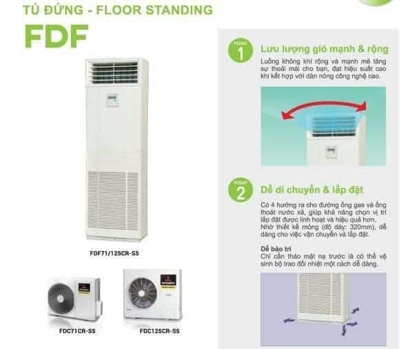 Máy Lạnh Tủ Đứng Mitsubishi Heavy FDF71CR-S5/FDC71CR-S5 (3.0 HP, Gas R410a)