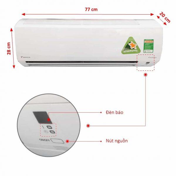 Máy lạnh Daikin FTXM50HVMV / RXM50HVMV (2.0 HP, Gas R32, Inverter, 2 Chiều)